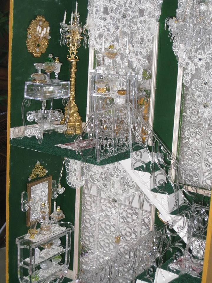 """Sheila's """"A Hallway for All Seasons"""" designed by Ron Mummert turned into the """"Crystal Palace Boutique""""- close-up"""
