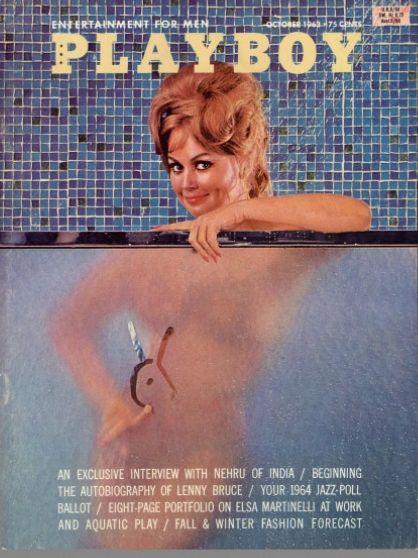 A Playboy com a modelo Marli Renfro, que serviu como dublê de corpo para Janet Leigh na cena do chuveiro.