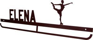 Cuelgamedallas Elena patinaje artístico, personalizado con tu nombre y silueta.