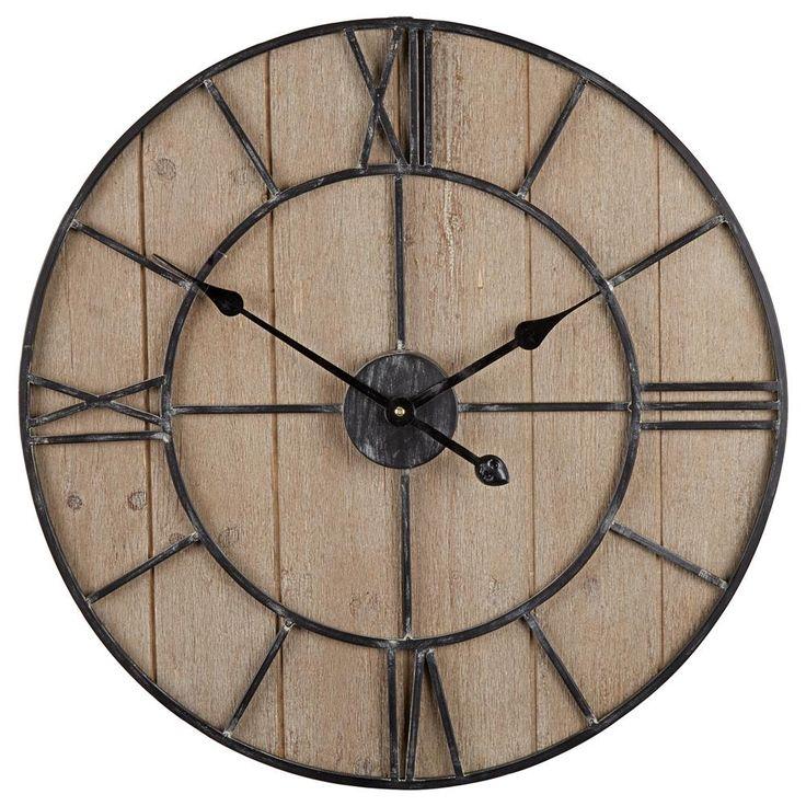 """Wall Clock_/ 23.6""""(W) X 23.6""""(H) X 1.7""""(D)_$125"""