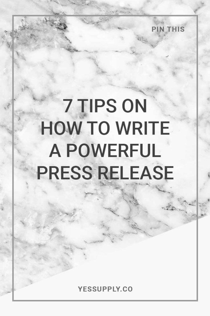 Why is writing a powerful press release important, 7 Tips On How To Write A…