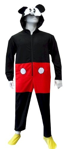 Disney #Mickey Mouse Outfit Footie #Onesie #Pajamas with Hood (X-Large)