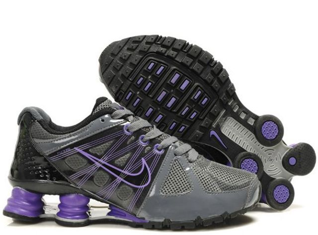 Women's Nike Shox Agent - Dark Grey/Black/Purple. Only $72
