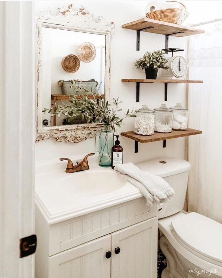 Seek This Necessary Graphics As Well As Look At Today Ideas On Small Bathroom Remodel Small Bathroom Shelves Small Bathroom Decor Farmhouse Bathroom Decor