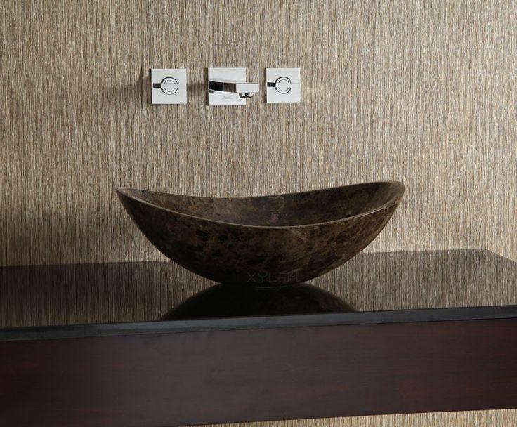Image Of Oval Stone Vessel Sink by Xylem at Amazon http amazon Dark EmperorModern BathroomBathroom SinksMarble