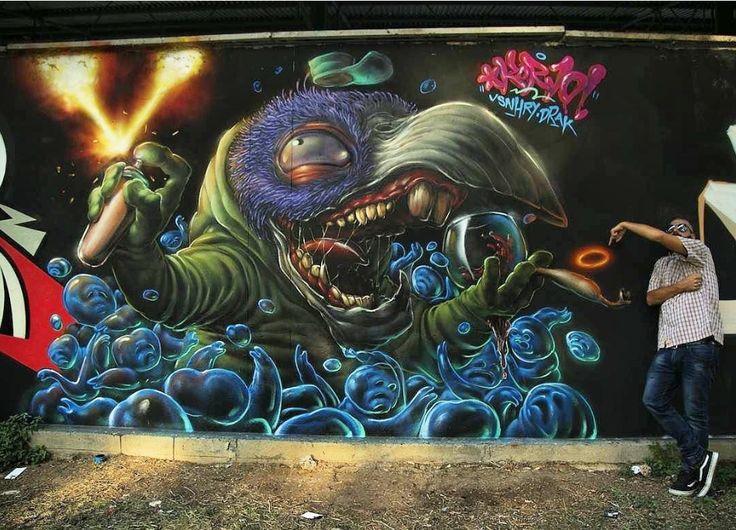 Korvuzkorax, Italy, 2017 | Graffiti in 2019 | Murals ...