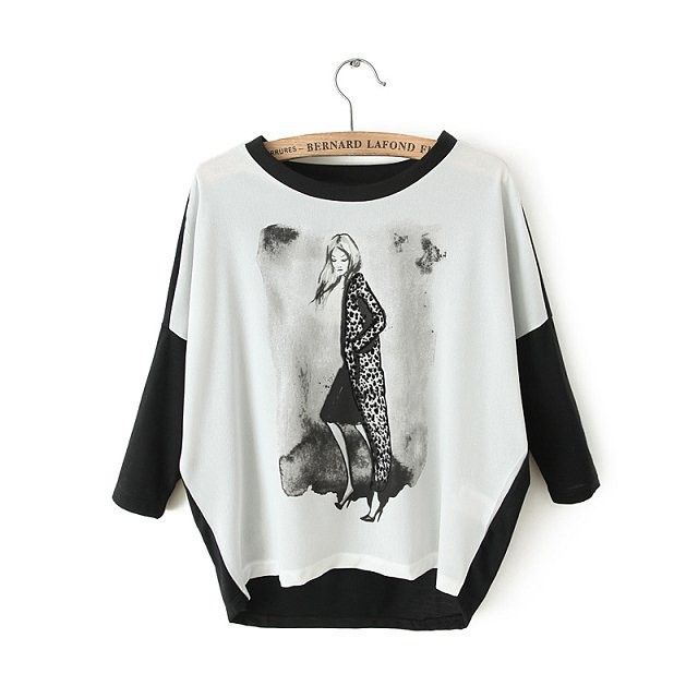 """Стильная бат-рубашка с орнаментом """"девушка"""", шифон и жоржет, много размеров на выбор"""