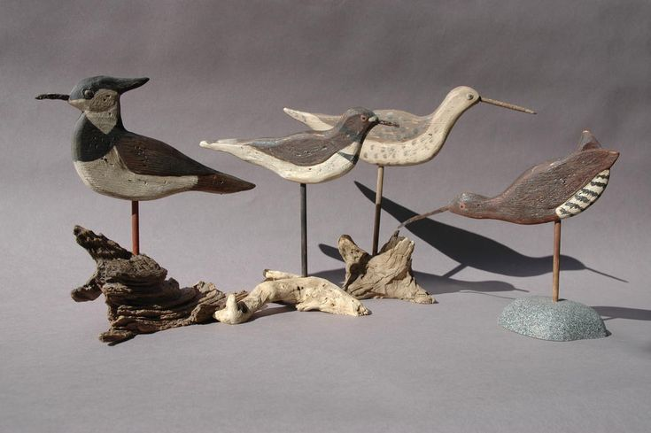 Vintage Silhouette Shorebirds | Check out this free step-by-step project on carving shorebirds.