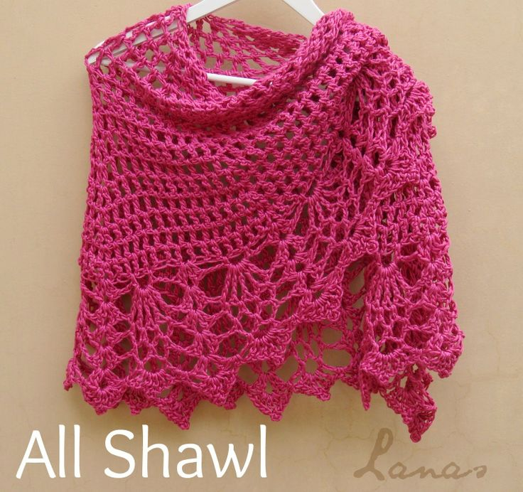 Lanas de Ana: 2 All Shawls: Pink and Red Free download on Ravelry Quick & easy