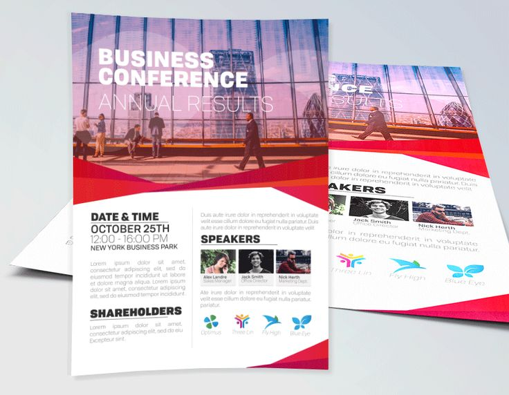 Business Conference Flyer Template for any corporate conference - conference flyer template
