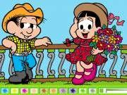 Turma da Mônica- Vamos Pintar! - Mostre toda sua criatividade pintando os desenhos da Turma da Mônica. Pinte os desenhos usando as cores disponíveis. Divirta-se neste jogo da Turma da Mônica.