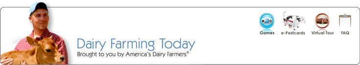 Dairy Farming Today: a virtual tour of a Dairy Farm. Discover the source for products like milk, cheese, yogurt, and ice cream. click schooling