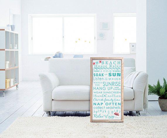 Playa reglas de signo Arte de la palabra tipografía regalo