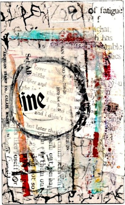 #mixed media here and there   Nancy Bell Scott