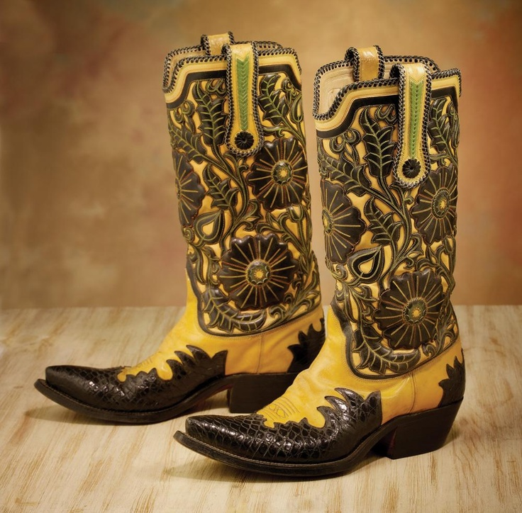 Black and Yellow Abraham Rios Boots