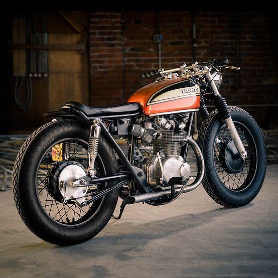 I love the design of these old bikes - Honda's, Triumph's | custom Honda CB450 - via Bike EXIF