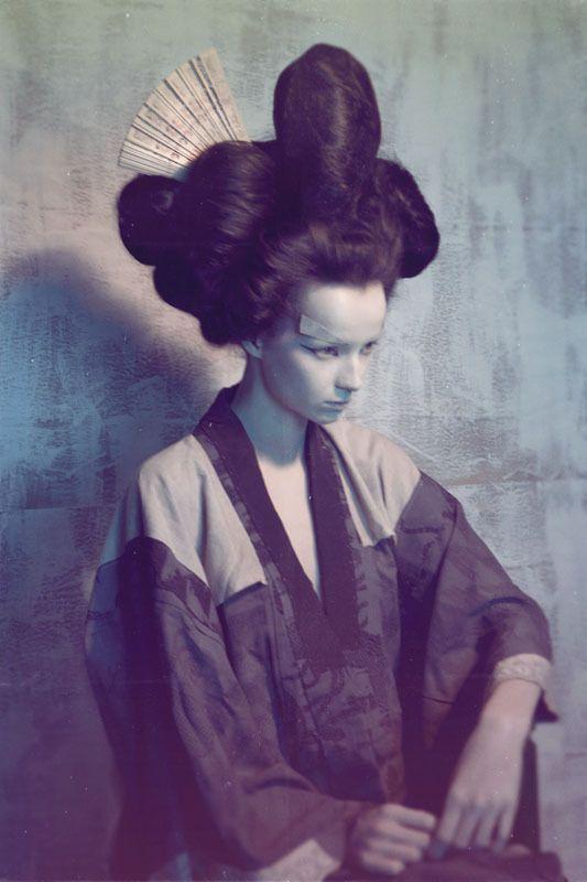Geisha by Stefan Giftthaler, via Behance
