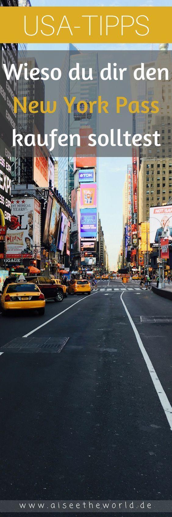 Ich zeige dir, wieso du dir den New York Pass kaufen solltest. Du hast deinen Flug nach New York schon gebucht? Du brauchst noch Reisetipps und Inspiration für deine Reise nach New York? Ich zeige dir, welche Attraktionen in New York du mit dem New York Pass kostenlos besichtigen kannst, wie teuer der New York Pass ist, wo du dir den New York Pass kaufen kannst und wo du ihn im Big Apple abholen kannst. Mehr Reisetipps für deine nächste Reise in die USA findest du auf meinem Reiseblog