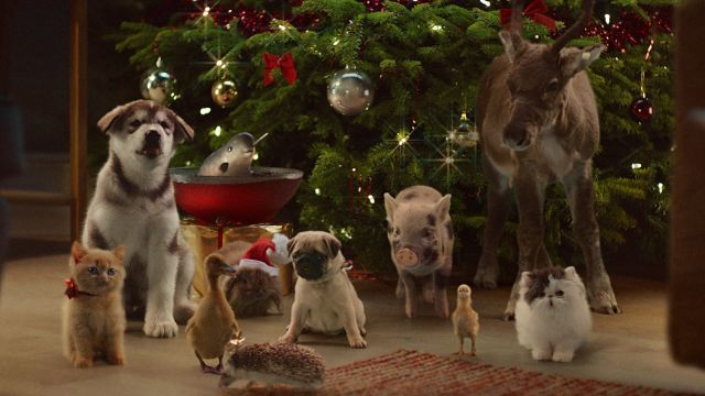 """#4 """"McVitie's Victoria Christmas""""  for McVitie's Victoria Selection Box (by Grey London) Caroling cuties...The gang's all here for McVitie's Christmas jamboree."""