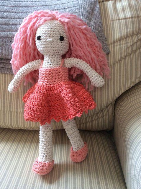 Helena | based on Lily Doll free crochet pattern. Inspiration from Isabelle Kessedjian's amazing crochet dolls.