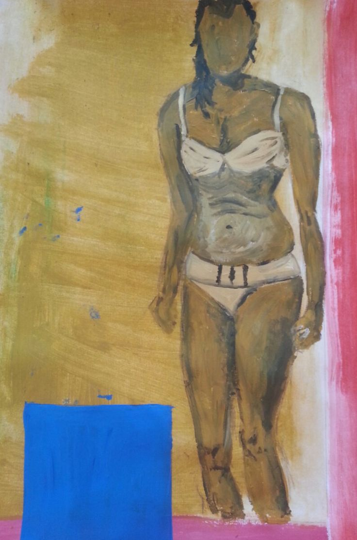 Rendered figure in monochromatic colour scheme with triadic opaque colour overlay process of finals.
