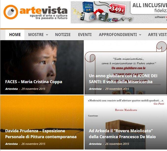 #Arkeda #roveremaiolicato #CeramicaFrancescoDeMaio In prima pagina su ArteVista