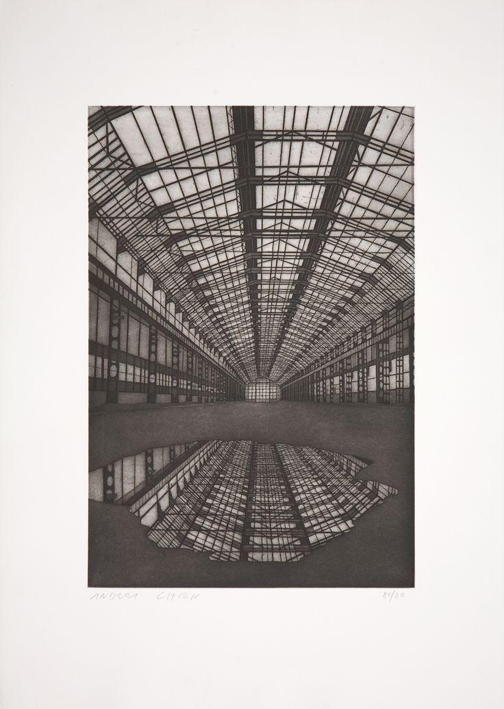 Andrea Chiesi, Chaos, 2010, acquaforte acquatinta, 700 x 500 mm, Galleria civica di Modena, dono Associazione per la diffusione dell'opera artistica di Modena