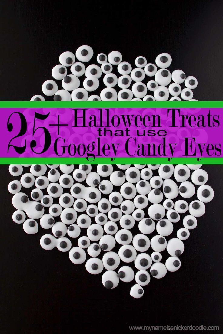 Over 25 Halloween Treats using  Candy Googley Eyes you can make at home!  So fun for the classroom, home and parties!     My Name Is Snickerdoodle
