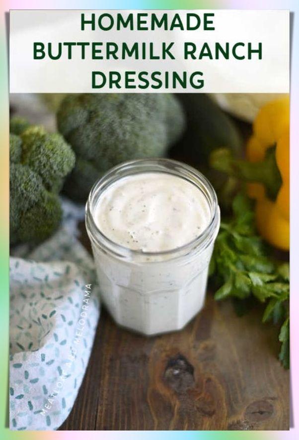 Easy Homemade Creamy Salad Dressing In 2020 Snacks Fur Party Vorspeisen Rezepte Vorspeise