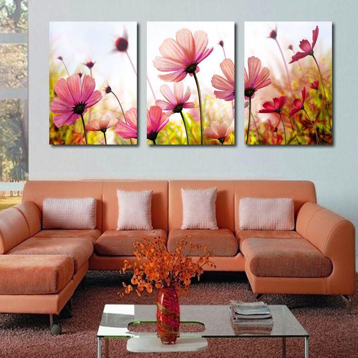 3 Peça Frete Grátis Modern Wall envio Pintura Rosa poppy flower Art Home Decorativa Imagem Pintura em Cópias Da Lona em Pintura & Caligrafia de Home & Garden no AliExpress.com | Alibaba Group