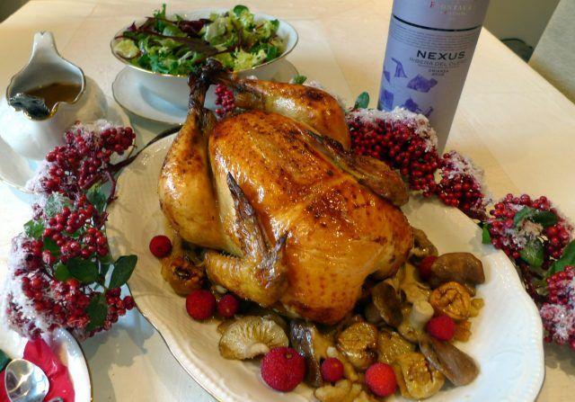 Pollo al horno relleno de verduras ¡Una rica cena de Navidad!   #PolloAlHorno #PolloRelleno #PolloRellenoDeVerduras #RecetasDePollo #RecetasAlHorno #RecetasDeNavidad #Navidad #RecetasNavideñas #Pollo