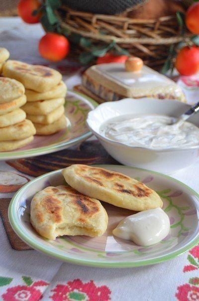 Пирожки с картошкой  без  обжаривания
