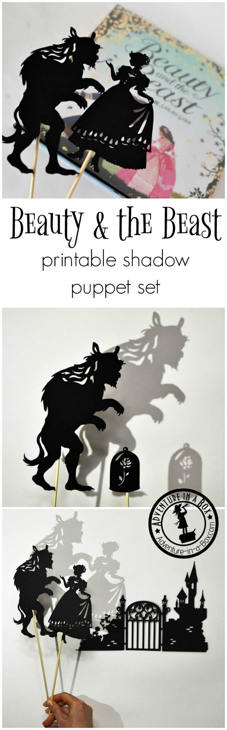 "Inspired by the Beauty and the Beast fairy-tale, these shadow puppets will let the kids tell their version of the ""tale as old as time""… When did you hear your first fairy-tale? For most of us, the date would be unknown because our acquaintance with fairy"