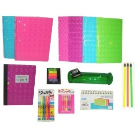 Neon Ultimate Back to School Set, Includes Folders, Notebook Spirals, Composition Book, Pencils & More  Order at http://amzn.com/dp/B008R27L0U/?tag=trendjogja-20