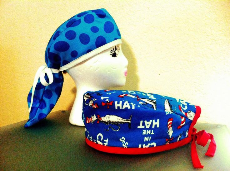 Ponytail Pouch AND Men's Scrub Hat Sewing Pattern