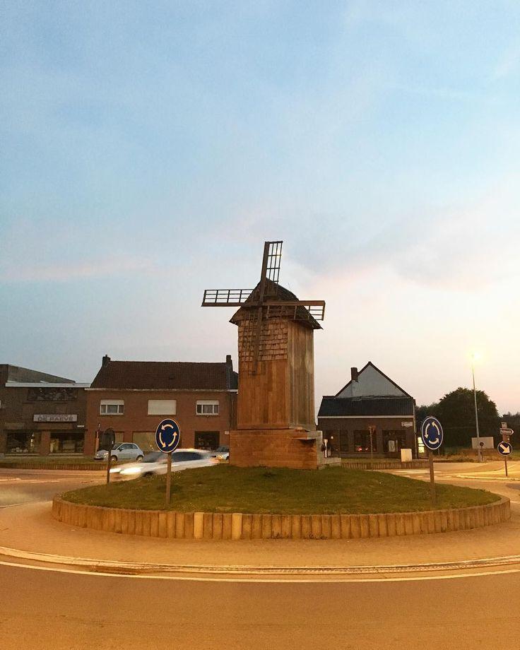 Somewhere in Belgium  #roundabout #belgium #windmill #flemishregion