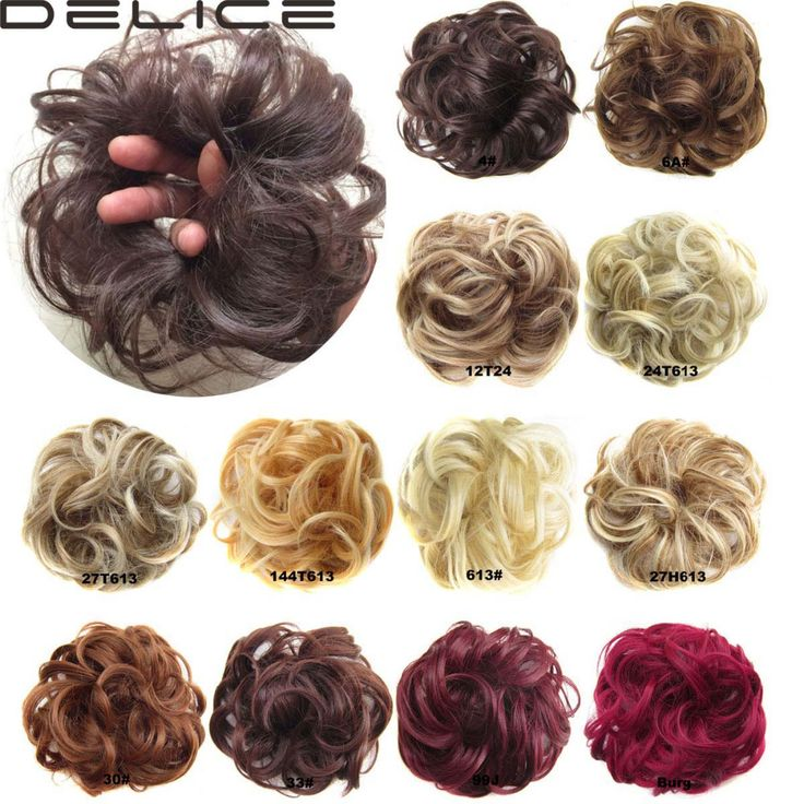 DELICE HAIR Women Wave Curly  Synthetic Flexible Scrunchie Wrap For Hair Bun Ponytails Hair Accessories Q5-2