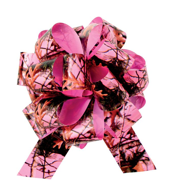"Camo Celebrations  - 5"" Pink Camo Pull Bow 3-Pack"