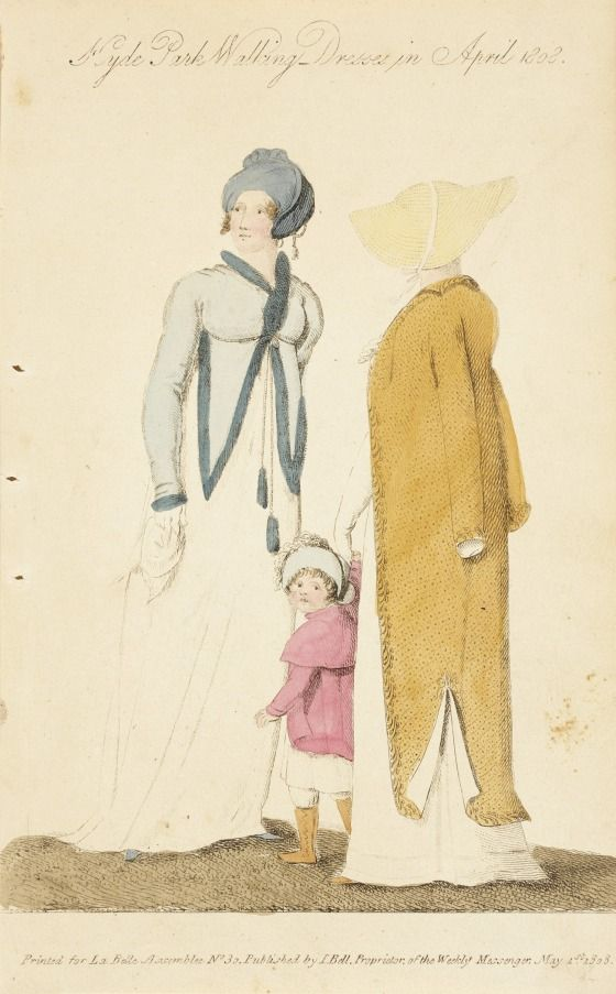 Little pink coat and yellow boots. Belle assemblee, 1808