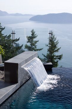 Awesome water feature.  Now just need a house on bluff overlooking large mountain lake!