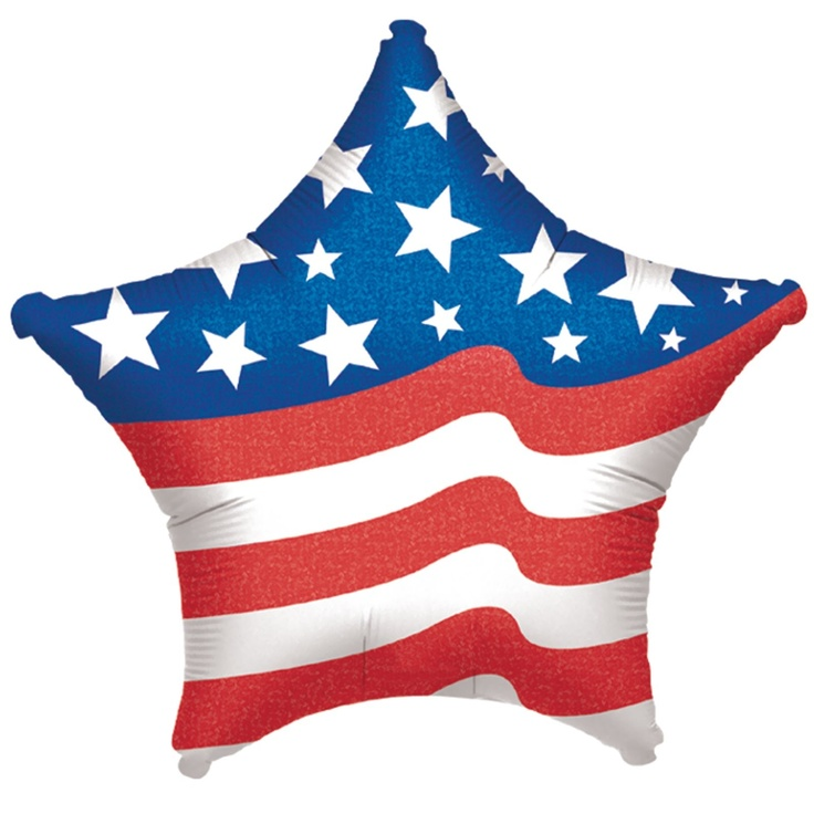 Patriotic Star Shaped Foil Balloon - Includes (1) star shaped 19 foil balloon.