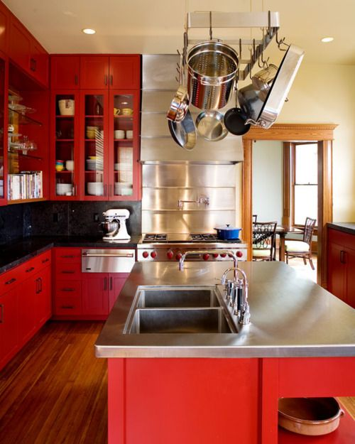 58 best Red Kitchens images on Pinterest | Color stories, Colors and ...