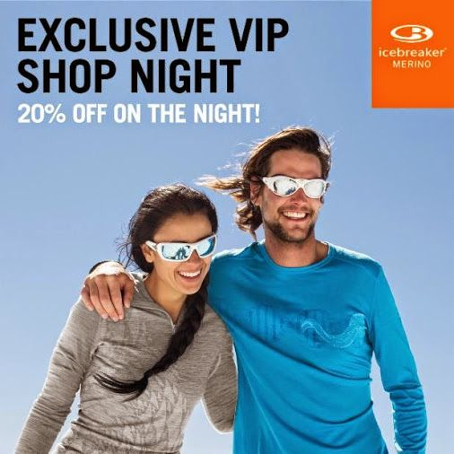 Exclusive VIP Shopping Night at Icebreaker Newmarket! 30-October, 2014 from 5-7pm