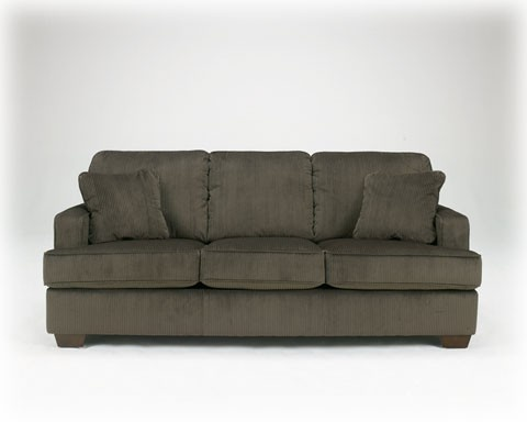Ashley Atmore Pewter Corduroy Microfiber Sleeper Sofa Couch Bed Houston $655