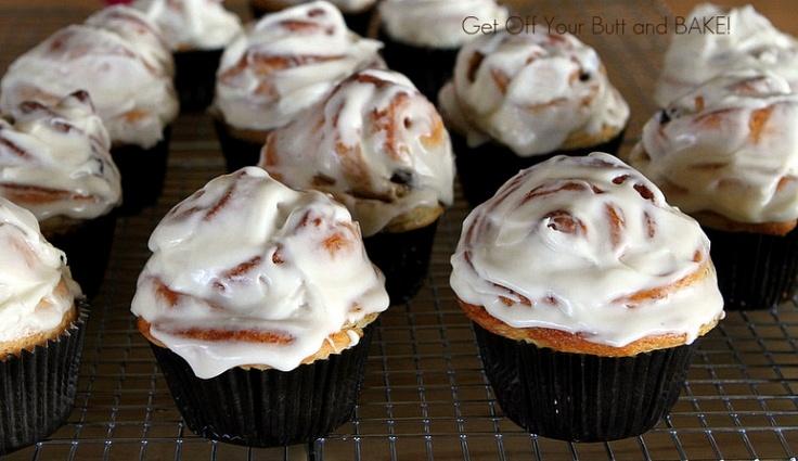 Cinnamon Roll Cupcakes.