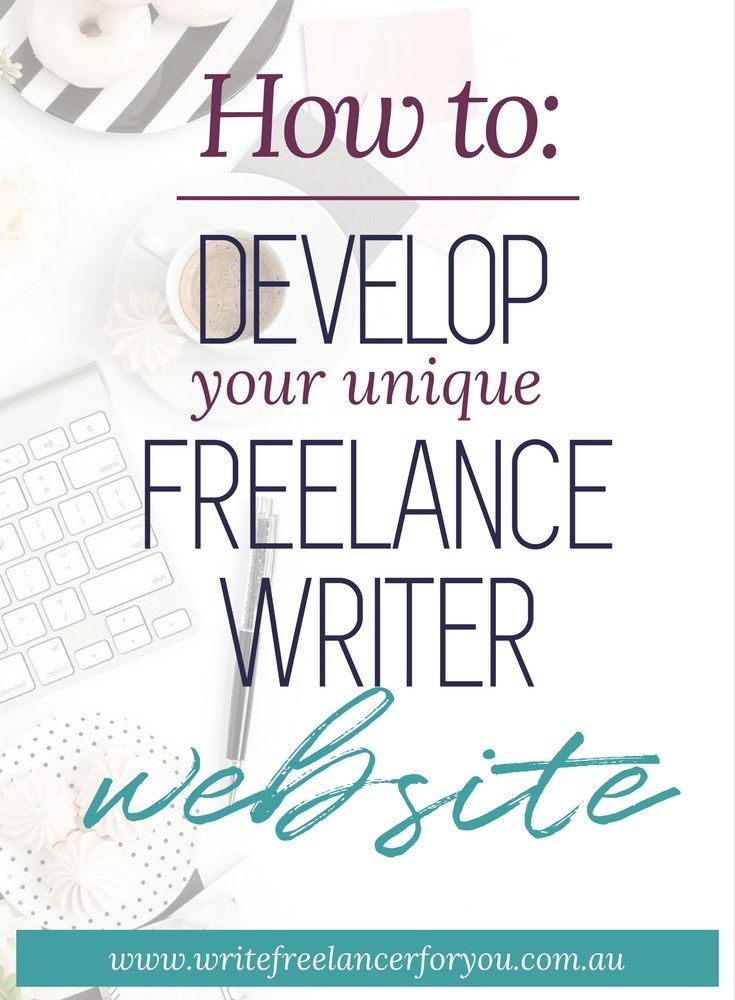 develop your own writing website, create a website