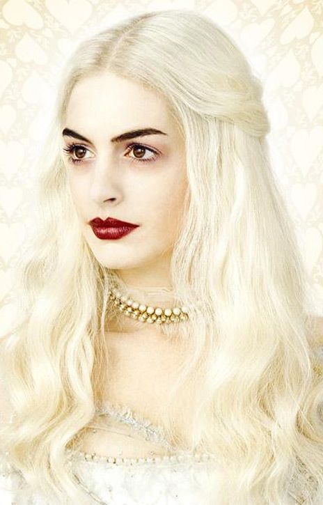"Anne Hathaway as the White Queen from Tim Burton's ""Alice in Wonderland"""