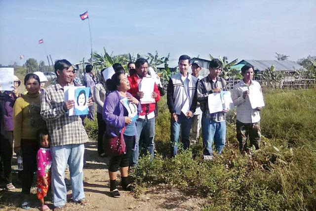 Poipet families protest for help in land dispute