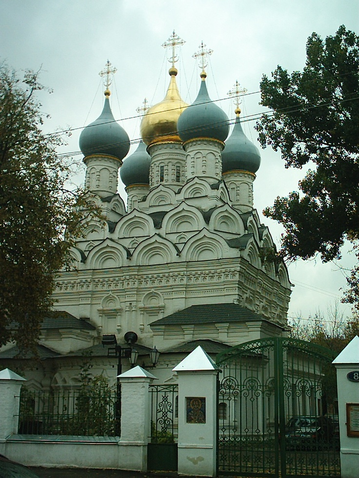 This onion-domed church was across the street from one of the many house-museums in Moscow.  The house-museum was the home of the theatre director, Ostrovsky, and it had a lot of maquets and production photos.  Great good fun and very inspiring.