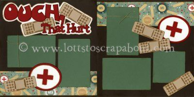 Ouch That Hurt Scrapbook Page Kit [ouchthathurt12] - $6.99 :: Lotts To Scrap About - Your Online Source for Scrapbook Page Kits!
